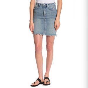 ALLSAINTS 'Kim' Distressed Denim Mini Skirt